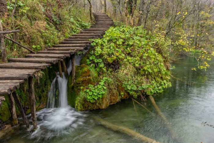 Waterfall in Plitvice Lakes Croatia